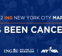 Le marathon de new york 2012 annulé