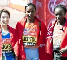 La Kényane Priscah Jeptoo a remporté le marathon de Londres 2013