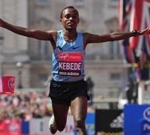 L'Ethiopien Tsegaye Kebede remporte le marathon de Londres 2013