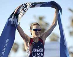 L'Américaine Gwen Jorgensen remporte le triathlon de San Diego